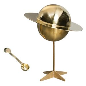 Cosmic Diner - Lunar Sugar bowl - With spoon by Diesel living with Seletti Gold