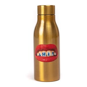 Toiletpaper - Shit Insulated flask - / Steel - 0.5 L by Seletti Gold