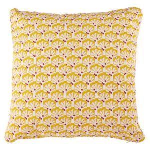 Envie d'ailleurs - Cocotiers Outdoor cushion - / 70 x 70 cm by Fermob Yellow