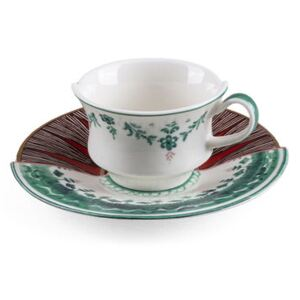 Hybrid Chucuito Coffee cup - / Coffee cup + saucer set by Seletti Multicoloured