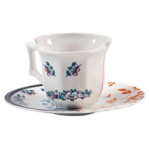 Hybrid Leonia Coffee cup - Set cup + saucer by Seletti Multicoloured