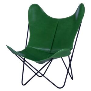 AA Butterfly Armchair - Leather / Black structure by AA-New Design Green
