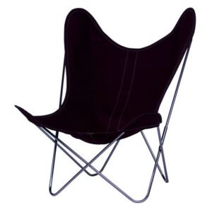 AA Butterfly INDOOR Armchair - Cloth / Chromed structure by AA-New Design Purple