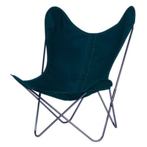 AA Butterfly INDOOR Armchair - Cloth / Chromed structure by AA-New Design Green