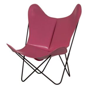 AA Butterfly Armchair - Leather / Black structure by AA-New Design Pink