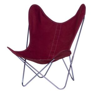 AA Butterfly INDOOR Armchair - Cloth / Chromed structure by AA-New Design Pink/Red
