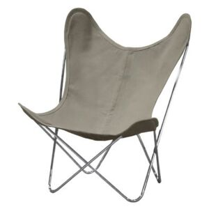 AA Butterfly INDOOR Armchair - Linen / Chromed structure by AA-New Design White