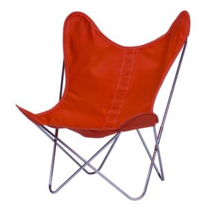 AA Butterfly INDOOR Armchair - Cloth / Chromed structure by AA-New Design Orange