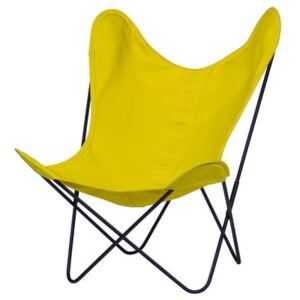 AA Butterfly OUTDOOR Armchair - Cloth / Black structure by AA-New Design Yellow