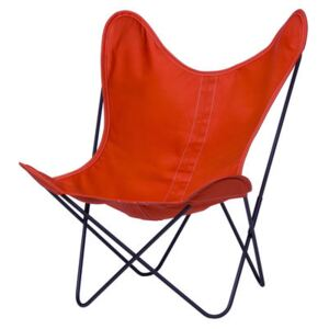 AA Butterfly OUTDOOR Armchair - Cloth / Black structure by AA-New Design Orange