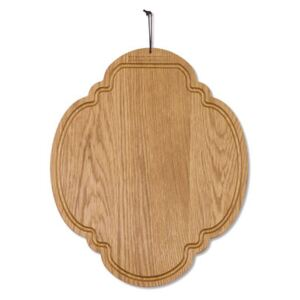 Chopping board - Oak / Oval - 26 x 32 cm by Dutchdeluxes Natural wood
