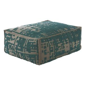 Abstract Pouf - 100 x 70 cm by Gan Blue