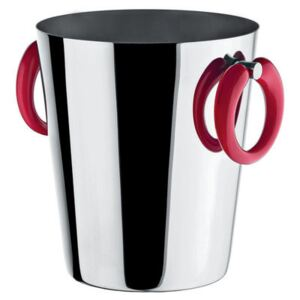 Little Pop - Moon Bar Champagne bucket - Wine cooler - H 23 cm by A di Alessi Red/Metal