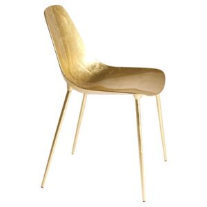 Mammamia Chair - Metal with gold leaves by Opinion Ciatti Gold
