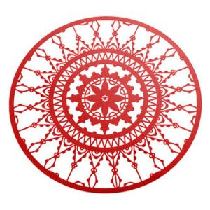 Italic Lace Glass coaster - Ø 10 cm - Set of 4 by Driade Kosmo Red