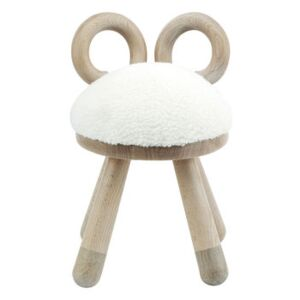 Sheep Children's chair - H 39 cm by EO White/Natural wood