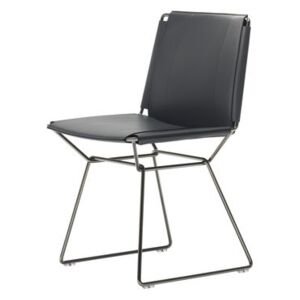 Neil Chair - / Saddle leather by MDF Italia Black