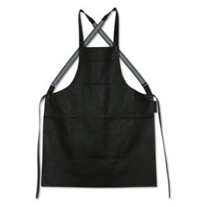 Apron - leather / Crossed straps by Dutchdeluxes Black