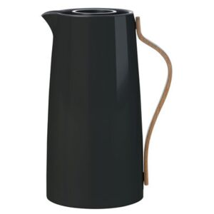 Emma Insulated jug - 1,2 L by Stelton Black/Natural wood