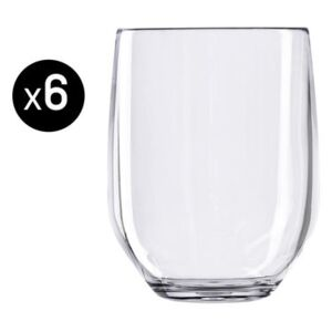 Vertical Party Beach Whisky glass - Set of 6 - 42 cl by Italesse Transparent
