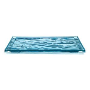 Dune Small Tray - / 46 x 32 cm - PMMA by Kartell Blue