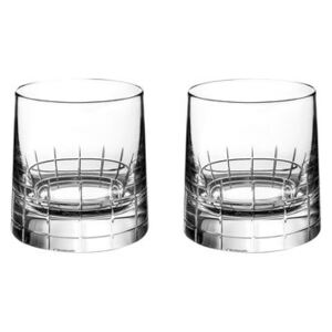 Graphik Whisky glass - / Box of 2 items - Hand-blown crystal by Christofle Transparent