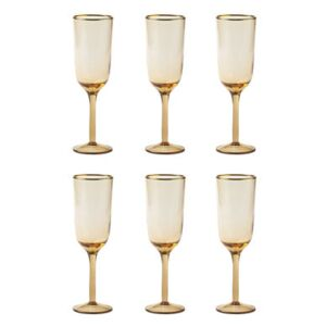 Decò Champagne glass - / Set of 6 - H 19.5 cm by Bitossi Home Pink