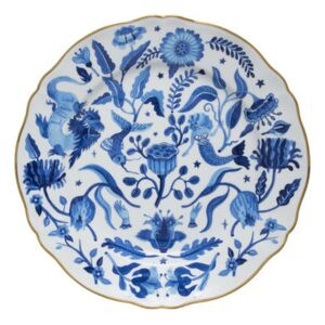 All over Plate - / Ø 26.5 cm by Bitossi Home White/Blue