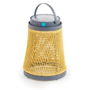 Solare Solar lamp - / Synthetic cord - H 40 cm / Solar or USB charging by Unopiu Yellow