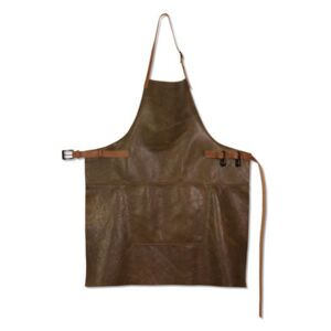 Apron - Barbecue / Leather by Dutchdeluxes Brown