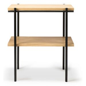 Rise End table - / Solid oak & metal - 50 x 30 cm by Ethnicraft Natural wood