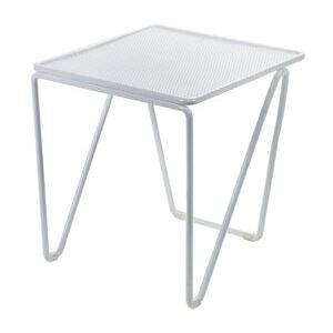 Fish & Fish End table - / 30 x 30 x H 42 cm - Perforated metal by Serax White