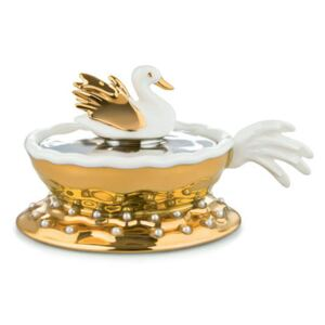 Narciso Bauble - / Hand-painted porcelain by Alessi Gold/Metal