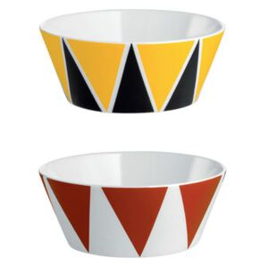 Circus Small dish - Set of 2 by Alessi Yellow/Red/Multicoloured/Black