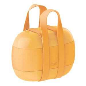 Food à porter Lunch box - / Large - 3 compartments by Alessi Yellow