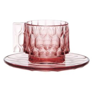 Jellies Family Coffee cup - Set cup + saucer by Kartell Pink