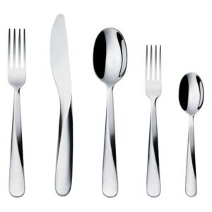 Giro Cutlery set - 5 pieces / 1 person by Alessi Metal