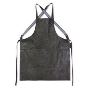 Apron - leather / Crossed straps by Dutchdeluxes Grey