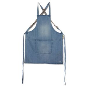 Apron - denim / Crossed straps by Dutchdeluxes Blue