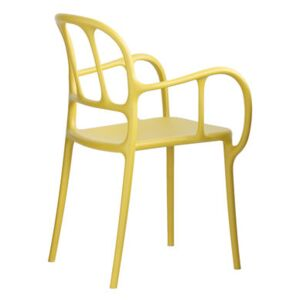 Milà Stackable armchair - Plastic by Magis Yellow