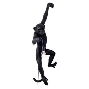 Monkey Hanging Outdoor wall light - / Outdoor - H 76.5 cm by Seletti Black