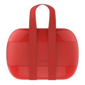 Food à porter Lunch box - / 2 compartments by Alessi Red