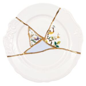 Kintsugi Plate - / Porcelaine & or fin by Seletti White