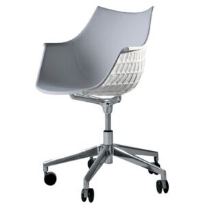 Méridiana Armchair on casters - Leather by Driade White
