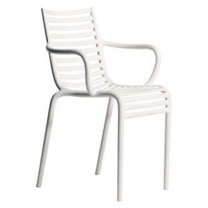 Pip-e Stackable armchair - Plastic by Driade White