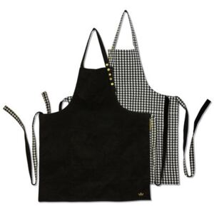 Apron - reversible / Houndstooth & Black by Dutchdeluxes Black