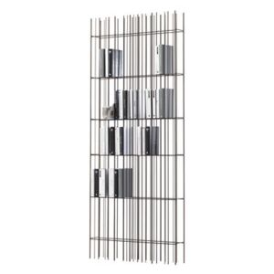 Metrica wall A Bookcase - / Single steel structure by Mogg Brown/Metal