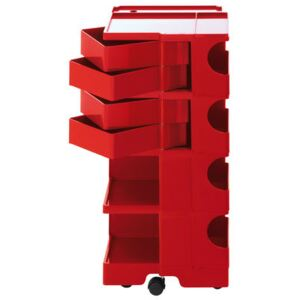 Boby Trolley - H 94 cm - 4 drawers by B-LINE Red