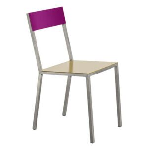 Alu Chair by valerie objects Yellow/Purple