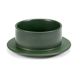 Dishes to Dishes - Grès Bowl - / Medium - Ø 20.5 x H 8 cm by valerie objects Green